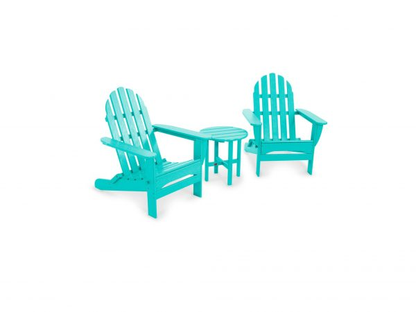 seating set made from plastic lumber