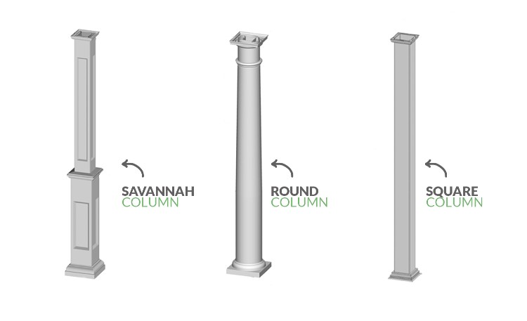 pergola column shapes
