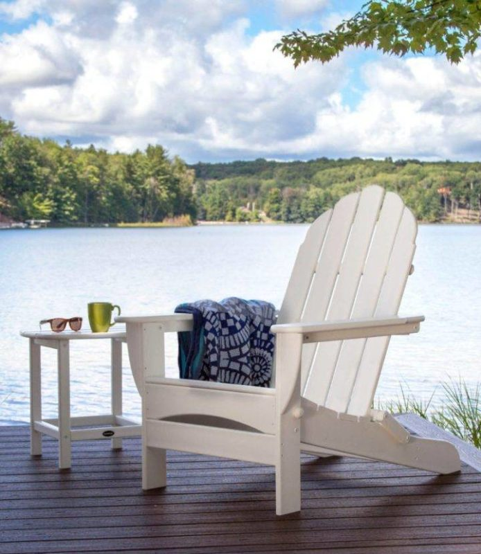 White Adirondack Chair made from recycled plastic