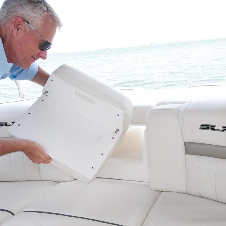 utility board on a boat