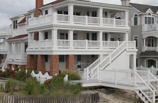 shore home with vinyl railing