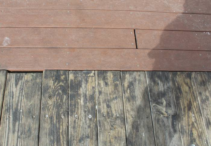 wood boardwalk next to plastic lumber