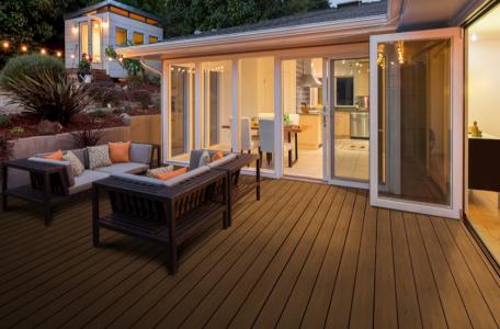 deck built with premium plastic lumber