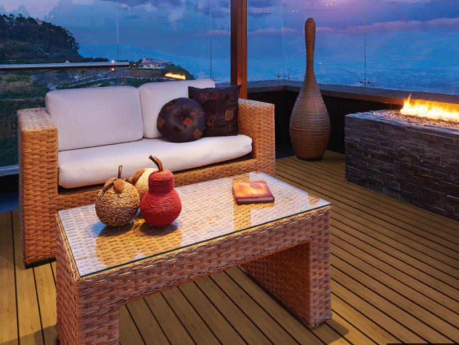 plastic lumber deck overlooking the ocean
